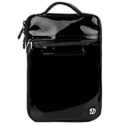 VanGoddyTM VG Hydei Black Patent Leather Bag Carrying Case for HP Stream 8 / HP 8 G2 / HP 1401 8
