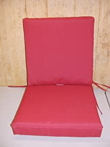"""(2) Pc Sectional Deep Seat Outdoor Patio Cushion Set 21""""W x 21.5""""D x 3.75""""T Ea Cushion ~ Brick Red ~ Shipping Included in Price from Arden Companies"""