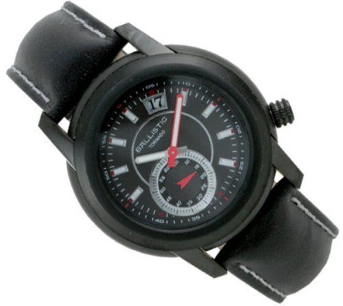 Ballistic Tornado Black Dial Black Leather Strap Watch
