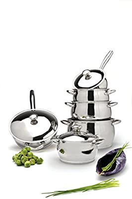 Berghoff Cosmo 12 Piece Cookware Set, Silver