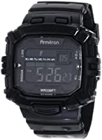 Armitron Men's 40/8244BLK Black Rectangle Chronograph Digital Sport Watch from Armitron