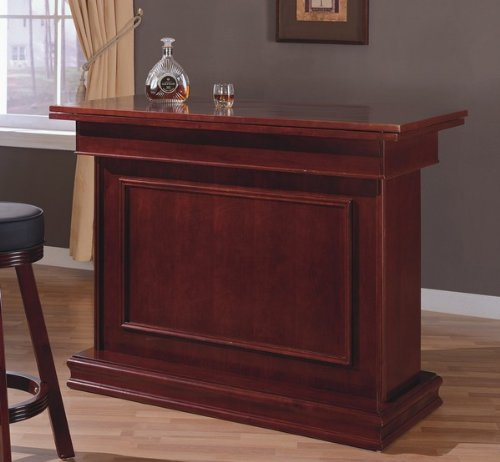 Cherry Finish All In One Game Table/Bar Unit W/Wine Shelves (Roulette, Blackjack & Craps) front-201353