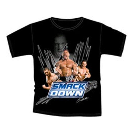 wwe-world-wrestling-entertainment-shirt-jungen-schwarz-smack-down-batista-grosse-3-4-jahre