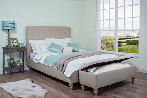 Marvelous Best Price For Cadot Robinson Bed Fabric Natural King Theyellowbook Wood Chair Design Ideas Theyellowbookinfo