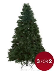 7ft Green Tree with Pine Cones