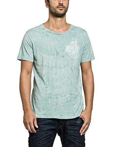 Replay Herren T-Shirt Shirt, Einfarbig, Gr. Large,