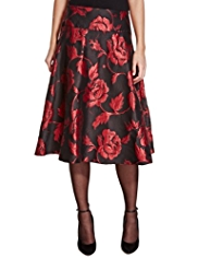Per Una Rose Jacquard A-Line Long Skirt