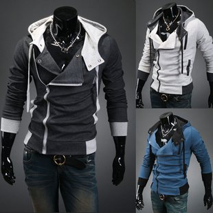 Pixnor® Assassins Creed 3 Desmond Miles Cosplay Costume Hoodie Assassin's Creed Jacket Costume Top Coat