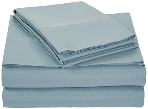 Buy Bargain AmazonBasics Microfiber Sheet Set - Queen, Spa Blue