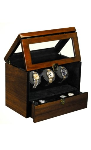 Orbita Watch Winders The Monico Teakwood - Watch Winder For Three Watches By Orbita