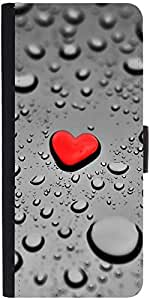 Snoogg Red Drop Heart Designer Protective Phone Flip Case Cover For Apple Iphone 6