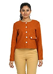 Fbbic Women's Short Jacket (16137_X-Small_Orange)