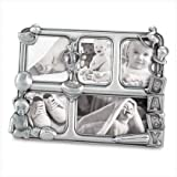 Pewter Baby Gift Childrens Collage Photo Picture Frame