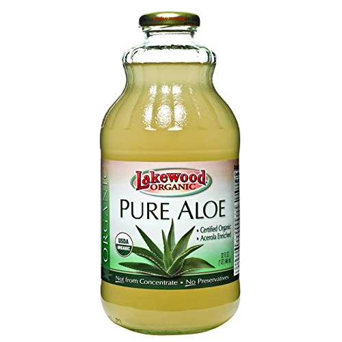 Lakewood Organic Aloe Juice - Fresh Pressed - Inner Fillet - 32 oz - 95%+ Organic - Gluten Free - Contains 100% juice (100 Pure Lemon Juice compare prices)