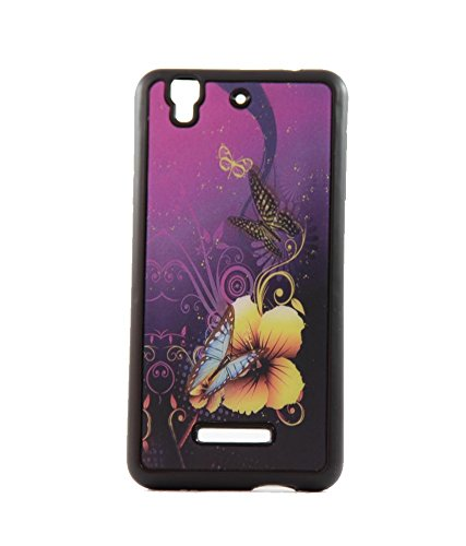 Exclusive 3D Design Effect Rubberised Back Case Cover For Micromax Yu Yureka AO5510 - Butterfly