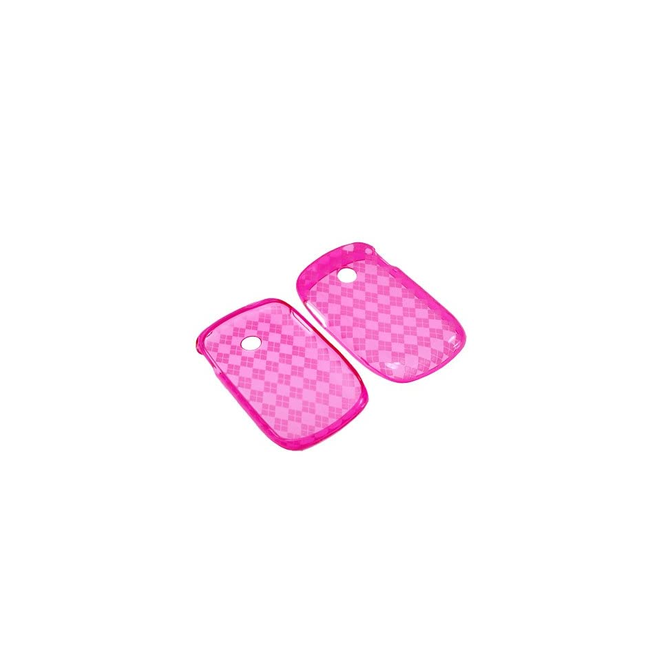 BW Soft Sleeve Gel Cover Skin Case for Tracfone LG 800G  Pink Checker
