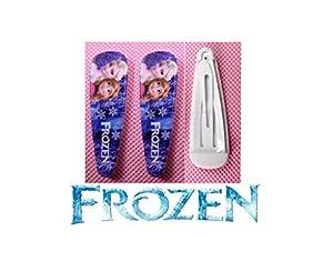 2 barrettes cheveux La reine des neiges Motif Elsa & Anna