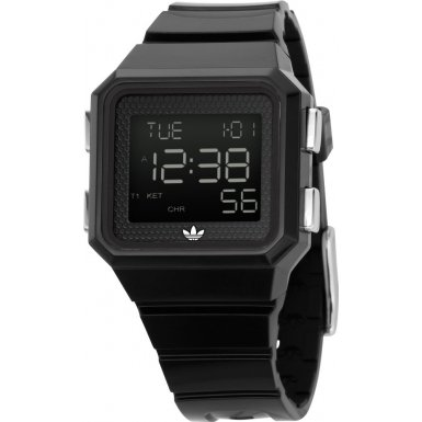 Adidas ADH4003 Unisex Digital Dial Black PU Strap Watch