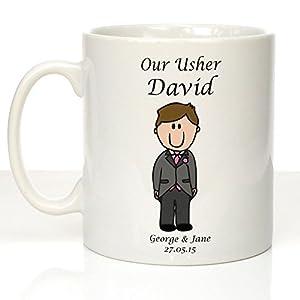 Personalised Wedding Usher Gifts : Personalised Usher Wedding Mug, Personalised Usher Gifts, Our Usher ...