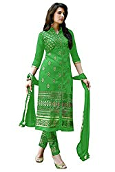 Govardhan Fashion Women's Unstitched Dress Material(H5_Green)