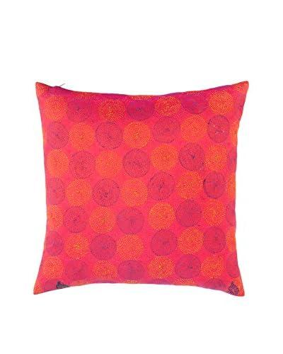 Found Object Sela Silk Kantha Throw Pillow