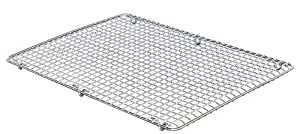 DecoBros 12x17 inches Half Sheet Cooling Rack Wire Steel Pan Grade, Chrome by Deco Brothers