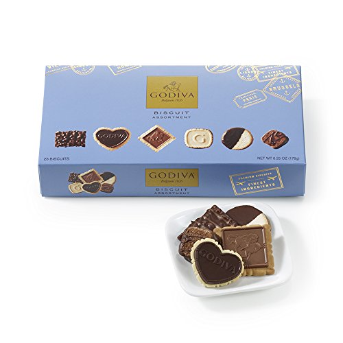 Godiva Chocolatier Assorted Chocolate Biscuit Gift Box (Chocolate Biscuits compare prices)