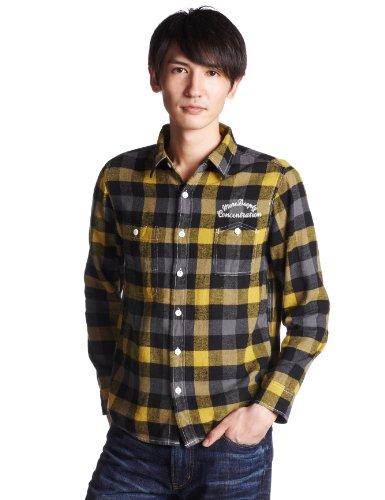 (コリスコ)corisco ネルブロックチェック刺繍入りワークシャツ 641916  YELLOW M