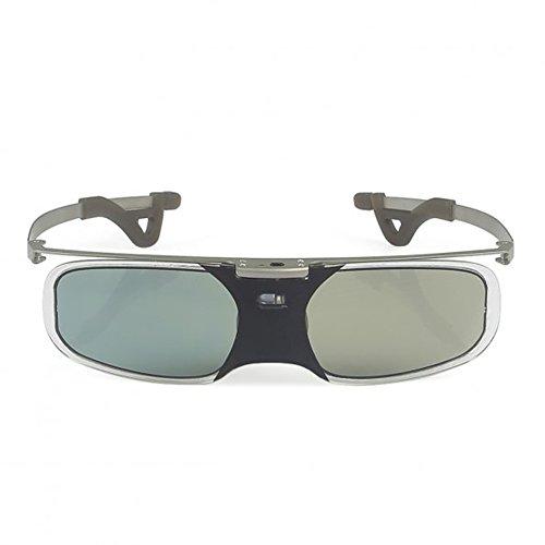 SainSonic Bravia 10M 144Hz 3D Active Rechargeable Shutter Glasses for Acer ViewSonic BenQ Vivitek Optoma 3D DLP-Link Ready Projector - Silver