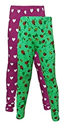 Little Stars Girls Cotton Regular Fit Leggings- Pack of 2 (Po2Gpl_3208_26, Multi-Colour, 5-6 Years)