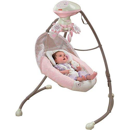 Fisher price my little sweetie deluxe cradle sw baby shop for Baby garden swing amazon