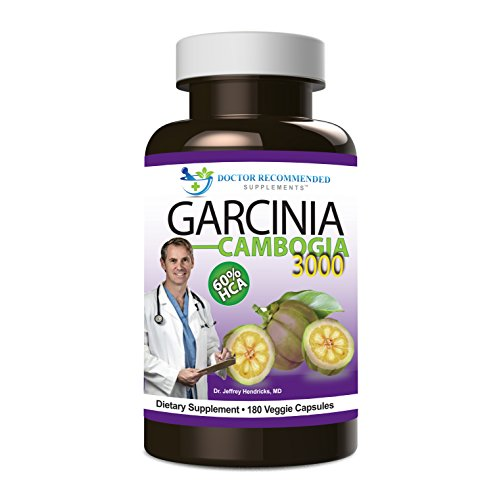 Doctor Recommended Garcinia Cambogia Extract 3000 Weight Loss Capsules, 180 Count