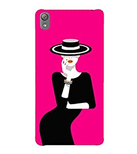 Pink Fantacy Girl 3D Hard Polycarbonate Designer Back Case Cover for Sony Xperia E5 : Sony Xperia E5 Dual