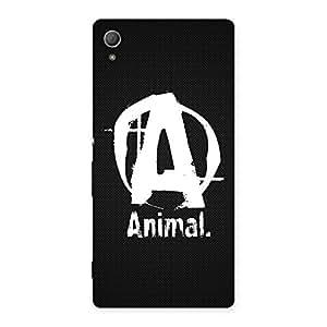 Ajay Enterprises Animal Black Back Case Cover for Xperia Z4