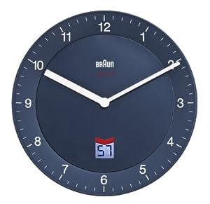 BRAUN BNC006BLBL - Reloj analógico de pared negro marca BRAUN