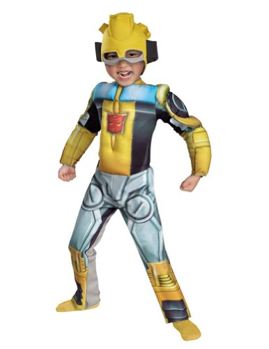 Bumblebee Rescue Bot Muscle Toddler Costume 3T - Toddler Halloween Costume