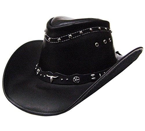 modestone-mens-leather-sombrero-vaquero-metal-studs-xl-black