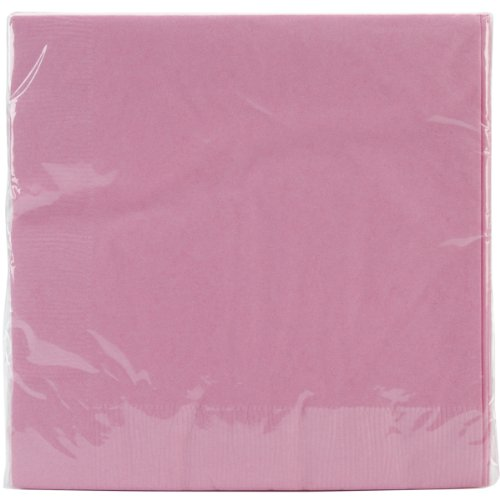 "Luncheon Napkins 6.5""X6.5"" 50/Pkg-Candy Pink"