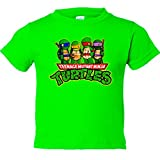 Camiseta ni�o Tortugas Ninja dibujo - Pistacho, 12-14 a�os