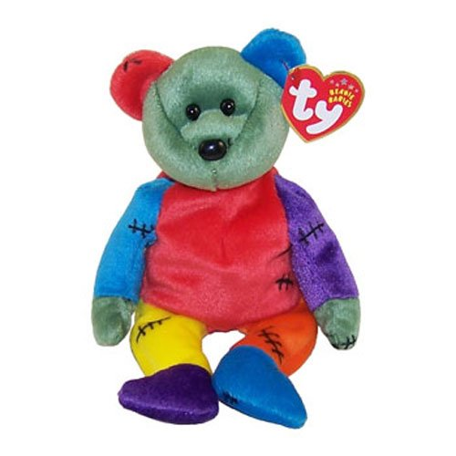 TY Beanie Baby - FRANKENTEDDY Bear (Purple & Blue Feet) (8.5 inch) - 1
