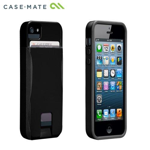 Case-Mate 日本正規品 iPhone5 POP! ID Case, ブラック/ブラック 【カードホルダーつき ハイブリッド・ハードケース】 CM022408