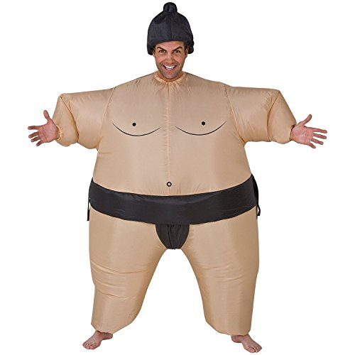[- Inflatable Sumo Adult Costume] (Halloween Ostrich Rider Costume)