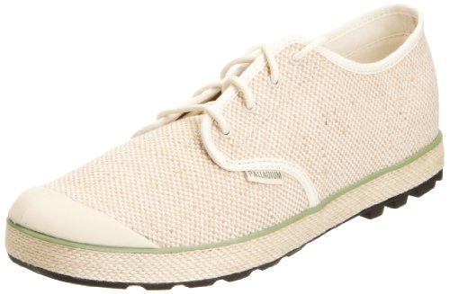 Palladium Men's Slim Oxford Woven Ecru/Aspen Green Fashion Trainer 02838-258-M 6 UK