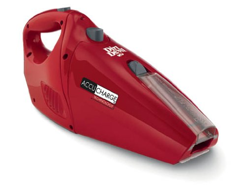 Dirt Devil AccuCharge 15.6 Volt Cordless Hand Vac with ENERGY STAR Battery Charger, BD10045RED
