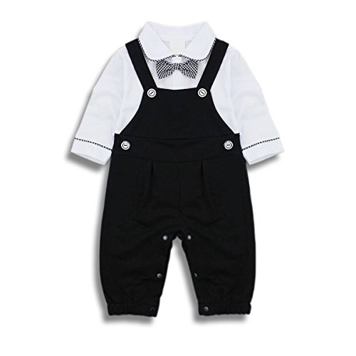 Baby Boy Outfits Clothing Set Toddler Jumpsuit Romper Onesie with Bowtie & Strap
