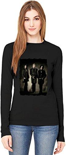 Sixx:A.M. Band T-Shirt da Donna a Maniche Lunghe Long-Sleeve T-shirt For Women| 100% Premium Cotton Ultimate Comfort Small