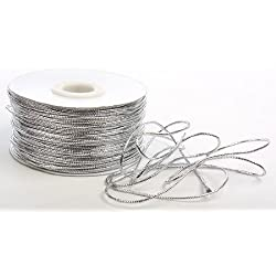Metallic Silver Tinsel Cord - 100 Yard Spool