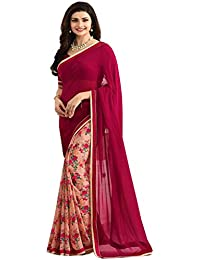 Zofey Women Clothing Saree For Latest Design Wear Sarees Collection In Georgette Material Latest Half And Half... - B072C9FZZ6