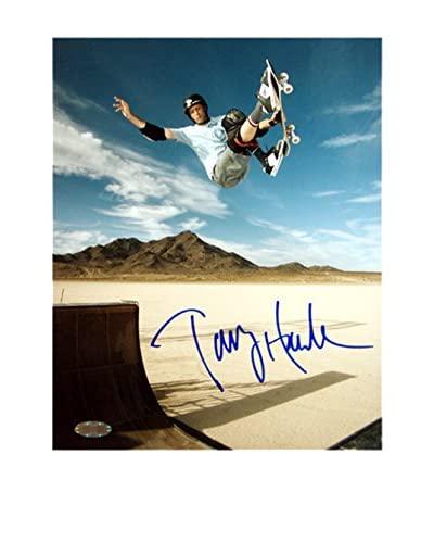 Steiner Sports Memorabilia Tony Hawk Signed Salt Flats Photo, 10 x 8