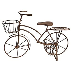 Metal bicycle plant stand 36 x15 5 x27 planters patio lawn garden - Bicycle planter stand ...